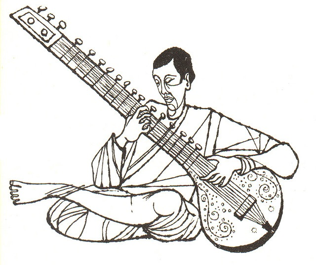 Sitar Drawing