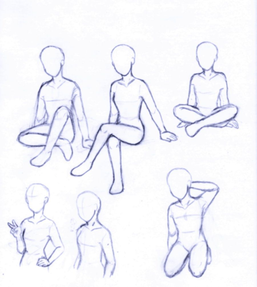 Sitting Poses Drawing at GetDrawings com | Free for personal