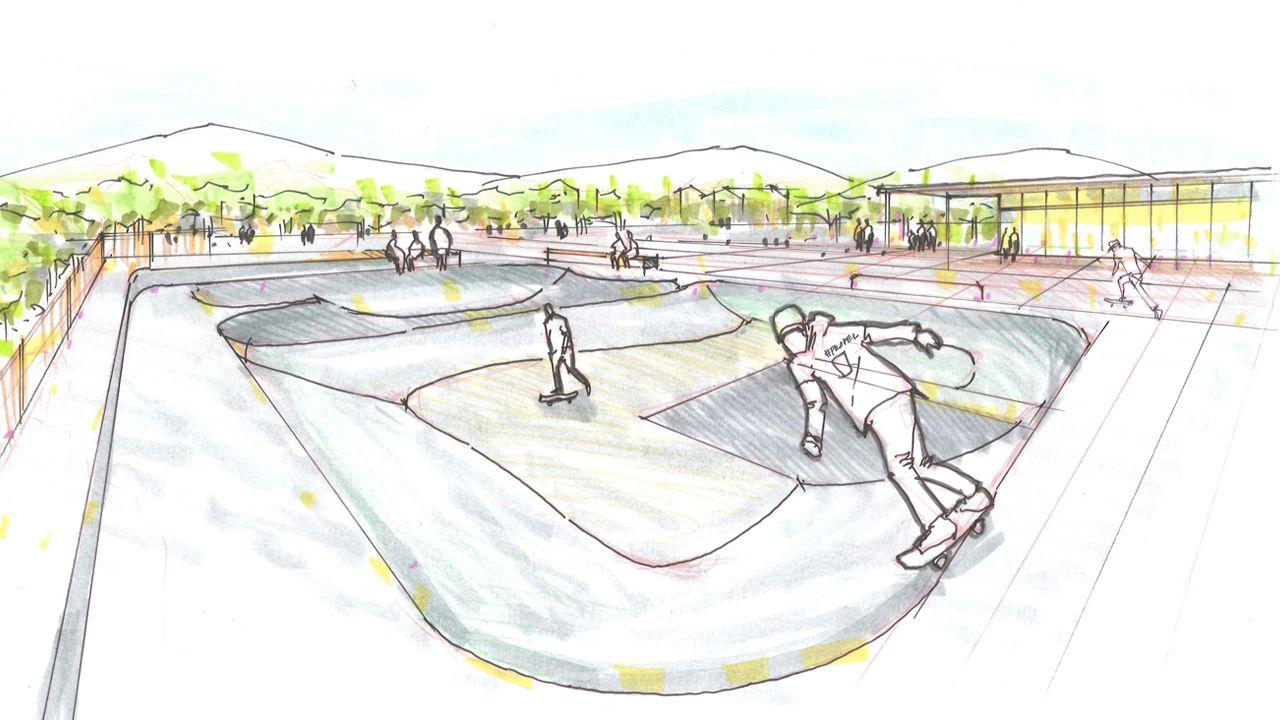skatepark drawing at getdrawings  free download