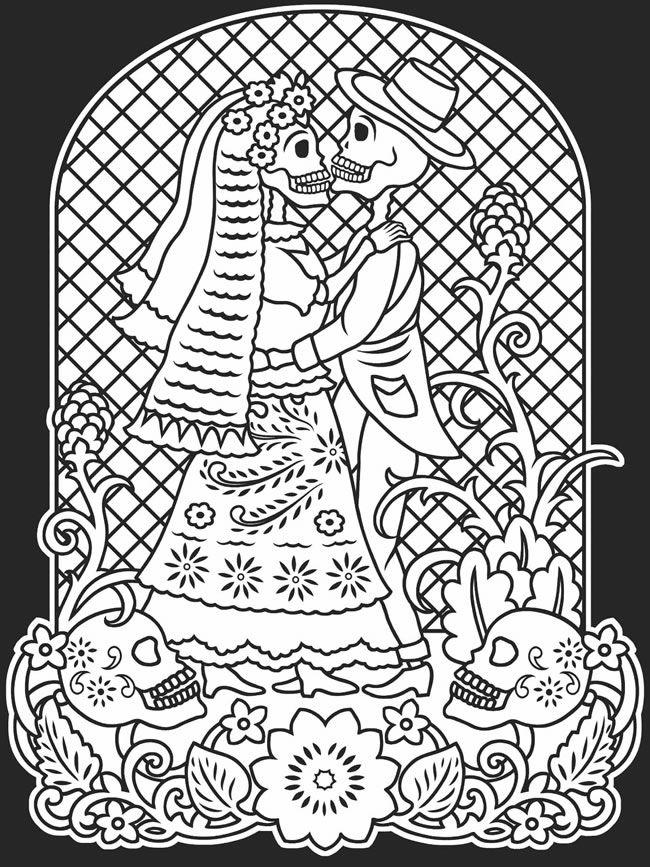 Skeleton Couple Drawing