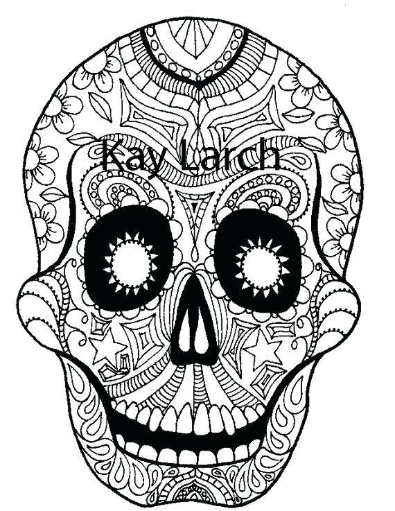 570x737 Easy Skull Coloring Book Sugar Skull Coloring Pages Sugar Skull
