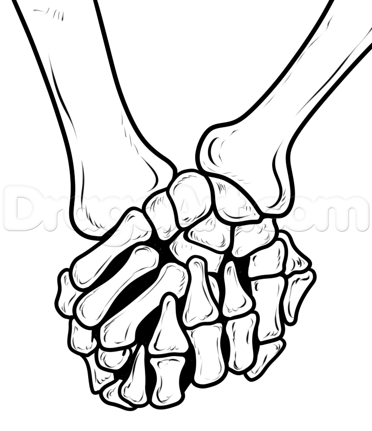 726x841 Collection Of Skeleton Hand Holding Drawing High Quality