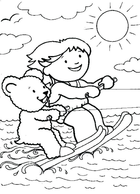 595x823 Ski Coloring Pages 9 Water Skiing Coloring Pages Ski Lift Coloring