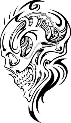 236x408 Skull Tribal By Thelob On Drawlings And Pic