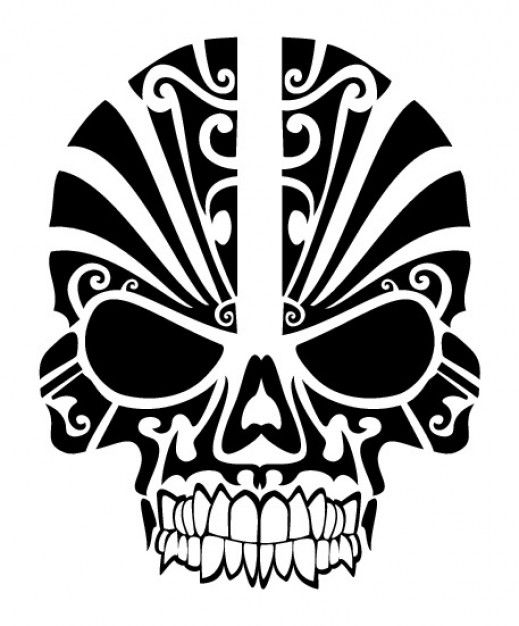 519x626 Skull Tribal Mask Tattoo. I Would Love This On My Shoulder