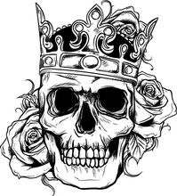 199x220 Top Drawing Of Skull With Crown Images For Tattoos