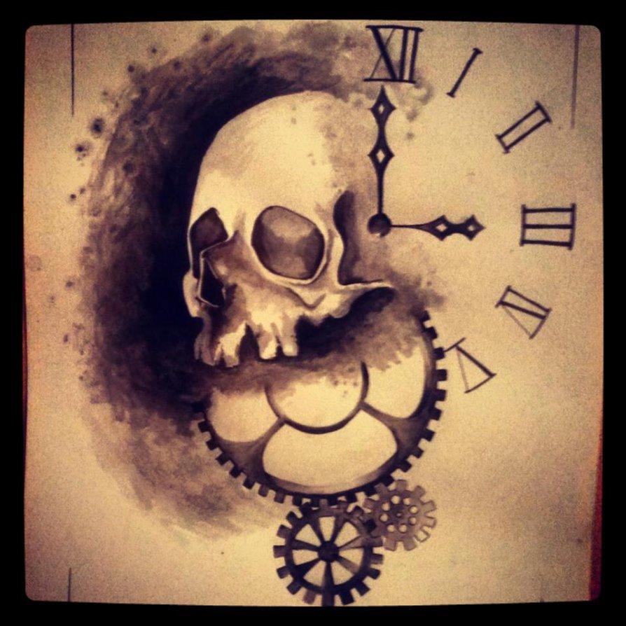 Skull Clock Drawing At Getdrawings Com Free For Personal Use Skull