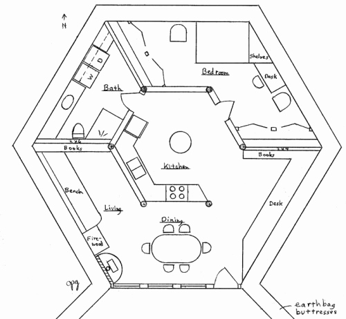 500x462 How To Draw A Skylight On A Floor Plan Lovely Earth Lodge
