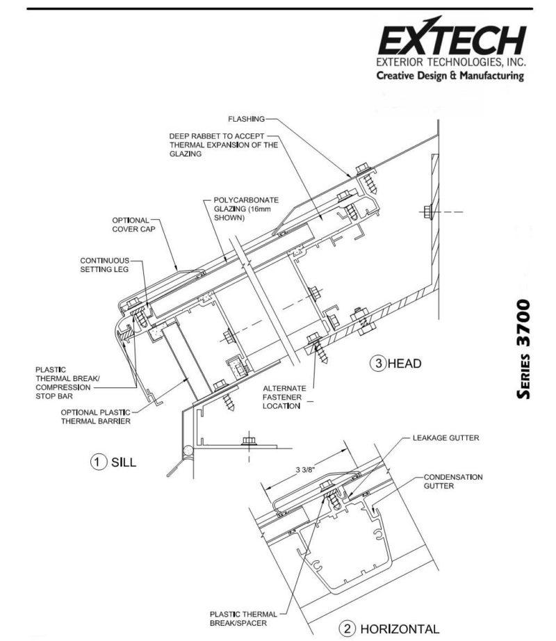 800x922 Industrial Skylights Skygard 3700 Extech, Inc.