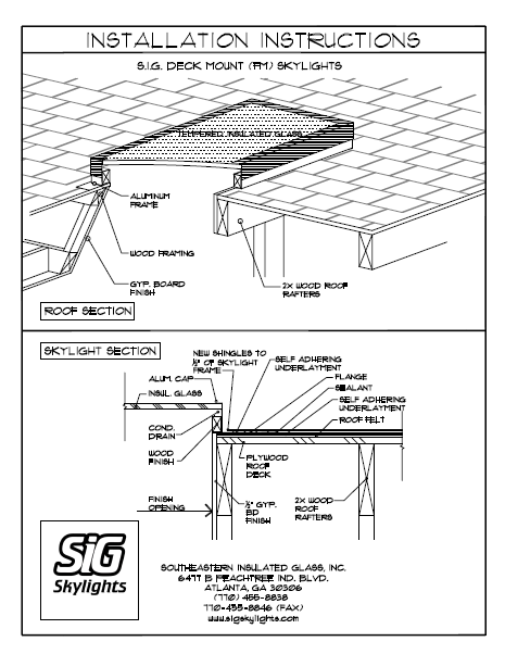 465x602 Installing A Stock Or Custom Sig Skylight