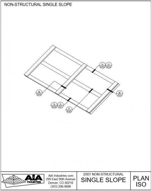 500x629 Nonstructural Single Slope Skylights Detailed Drawings Aia