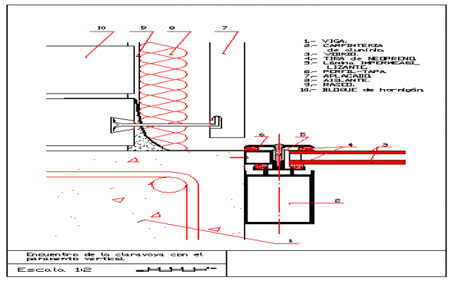 650x400 Detail Drawing Of Block With Skylight Design