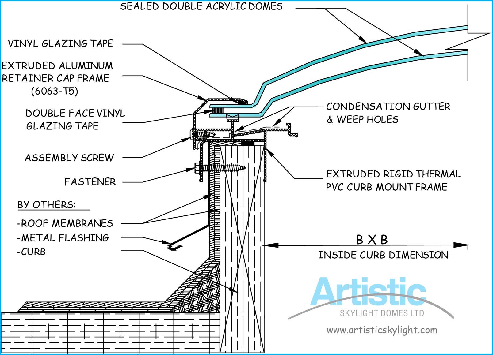 1608x1160 Flat Roof Skylight Cad Details