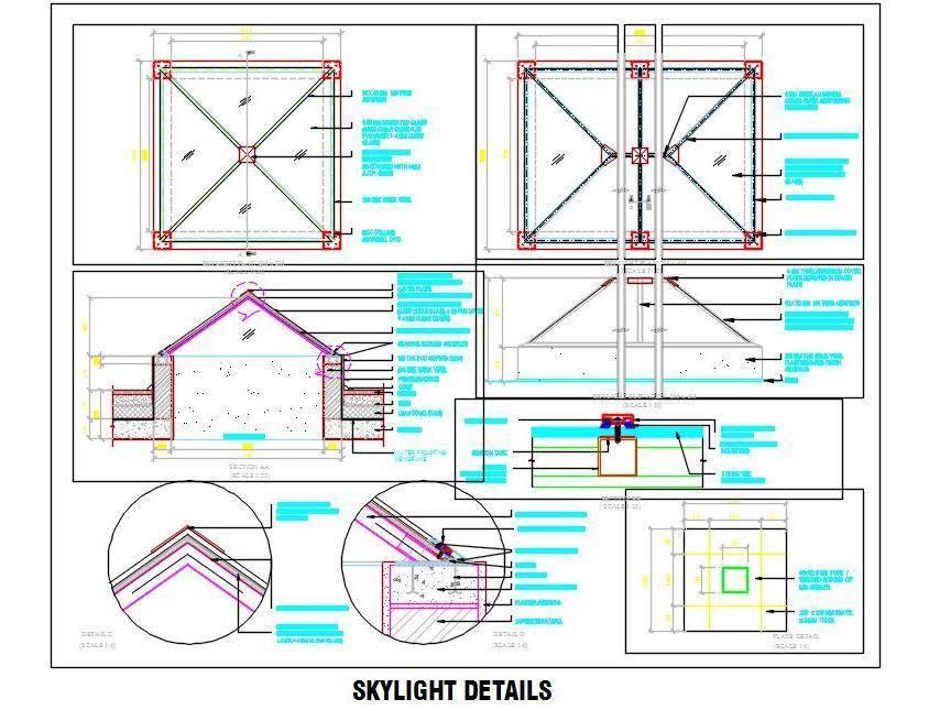 844x645 Glass Skylight Detail Drawing Plan N Design