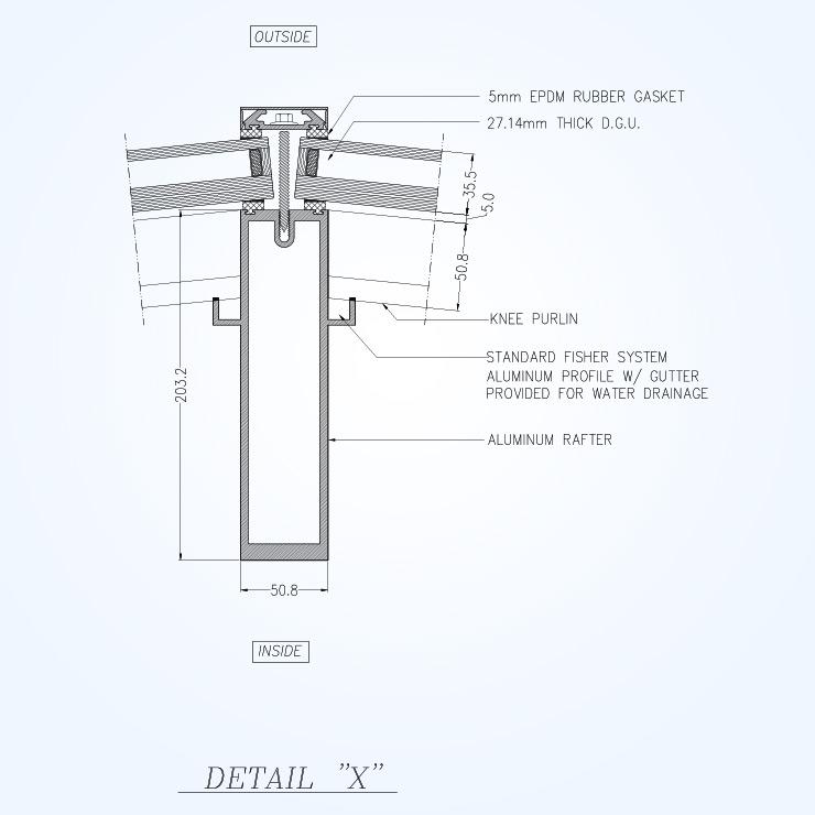 740x740 Irregular Shape Skylight Solico Skylight