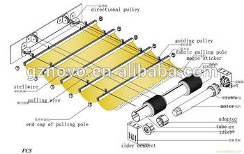 350x221 Novo Skylight Spray Tan Tentindoor Roller Skylight Motorcanopy