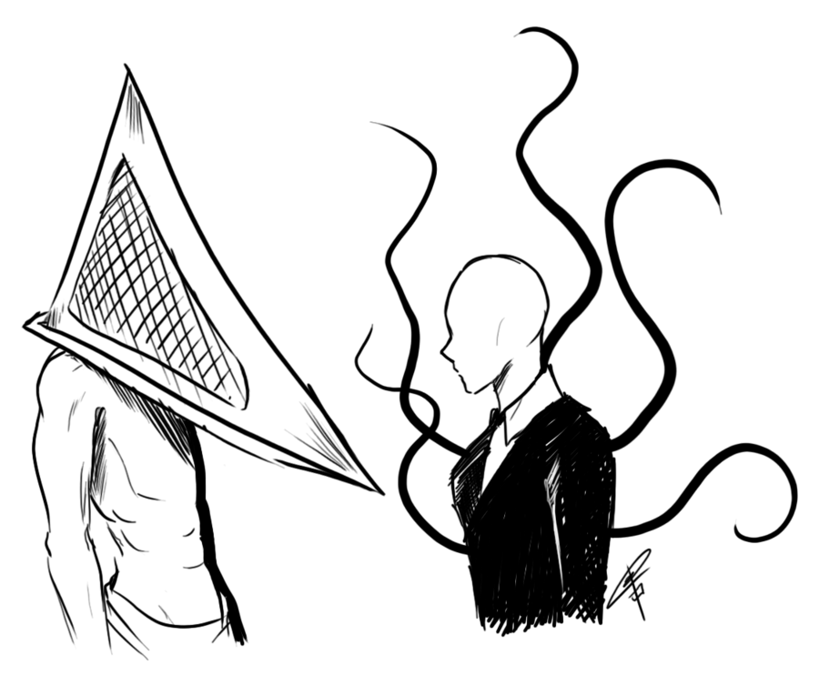Slender Man Drawing In Pencil At Getdrawingscom Free For Personal