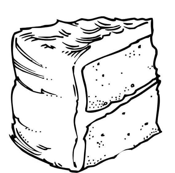 569x562 Fun Slice Cake Coloring Pages