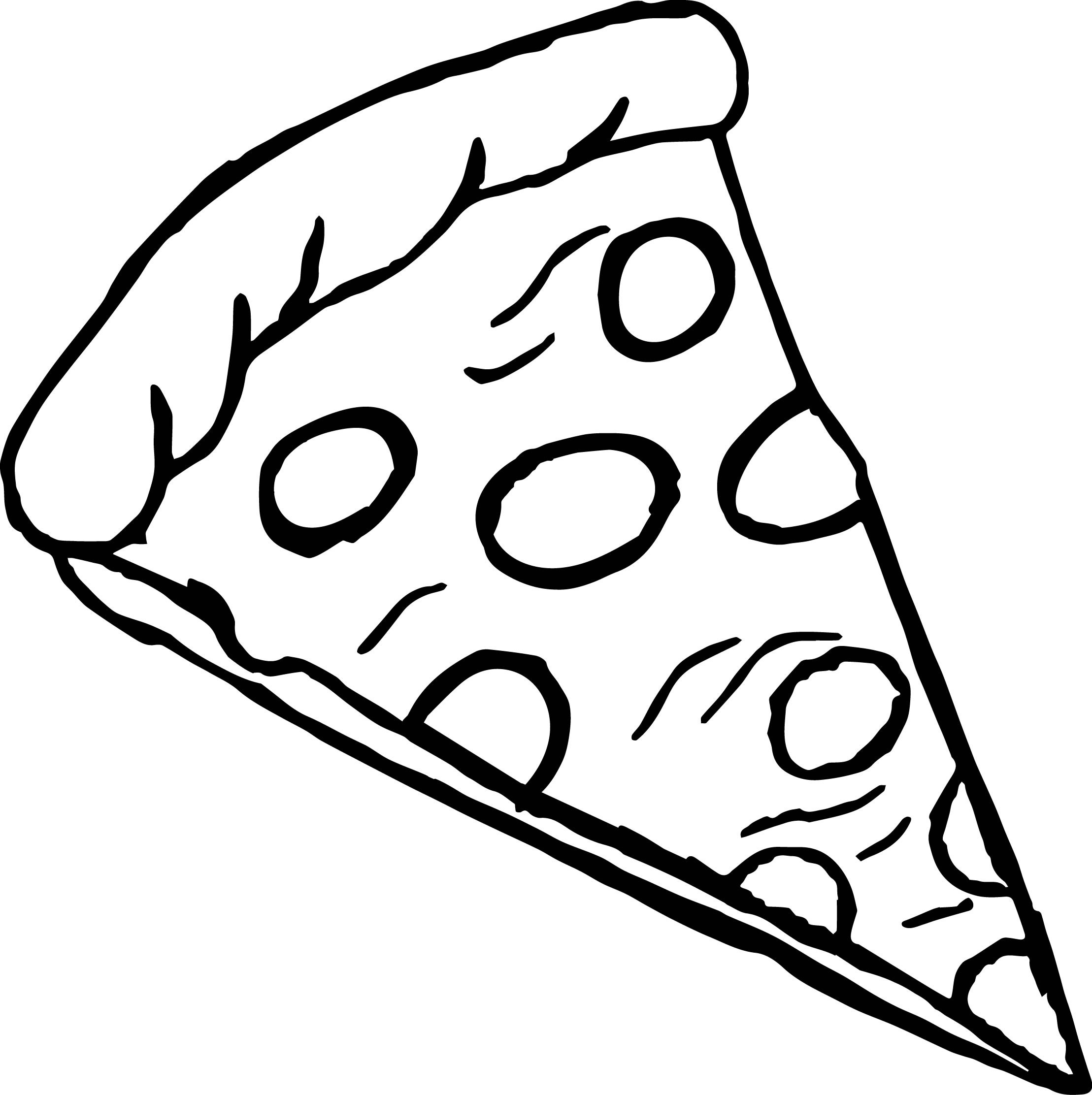 2217x2224 Pizza Coloring Page Unique Pizza Slice Drawing Thebestreview