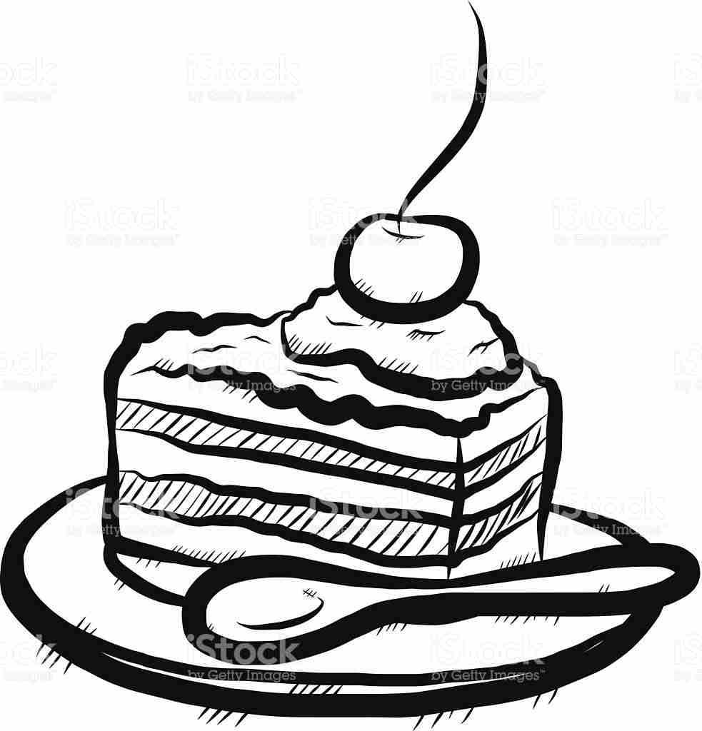 983x1024 Stunning Slice Of Cake Drawing 23 24 Coloring Pages Union Bankrc