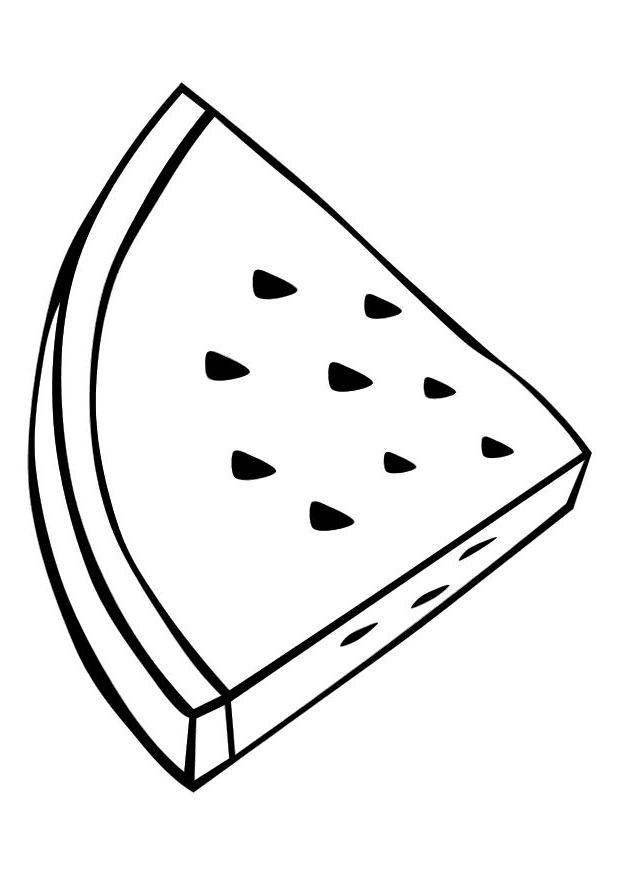 620x875 Watermelon Clipart Line Drawing