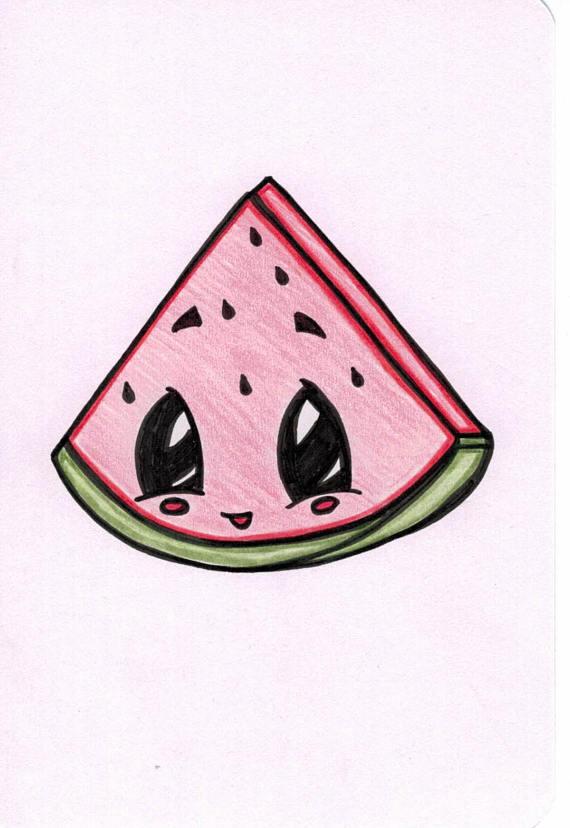 570x828 Watermelon Cartoon Watermelon Slices, Drawings