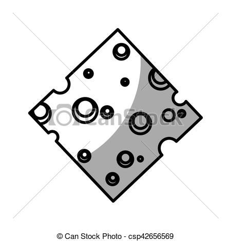 450x470 Cheese Slice Isolated Icon Vector Illustration Design Clip Art