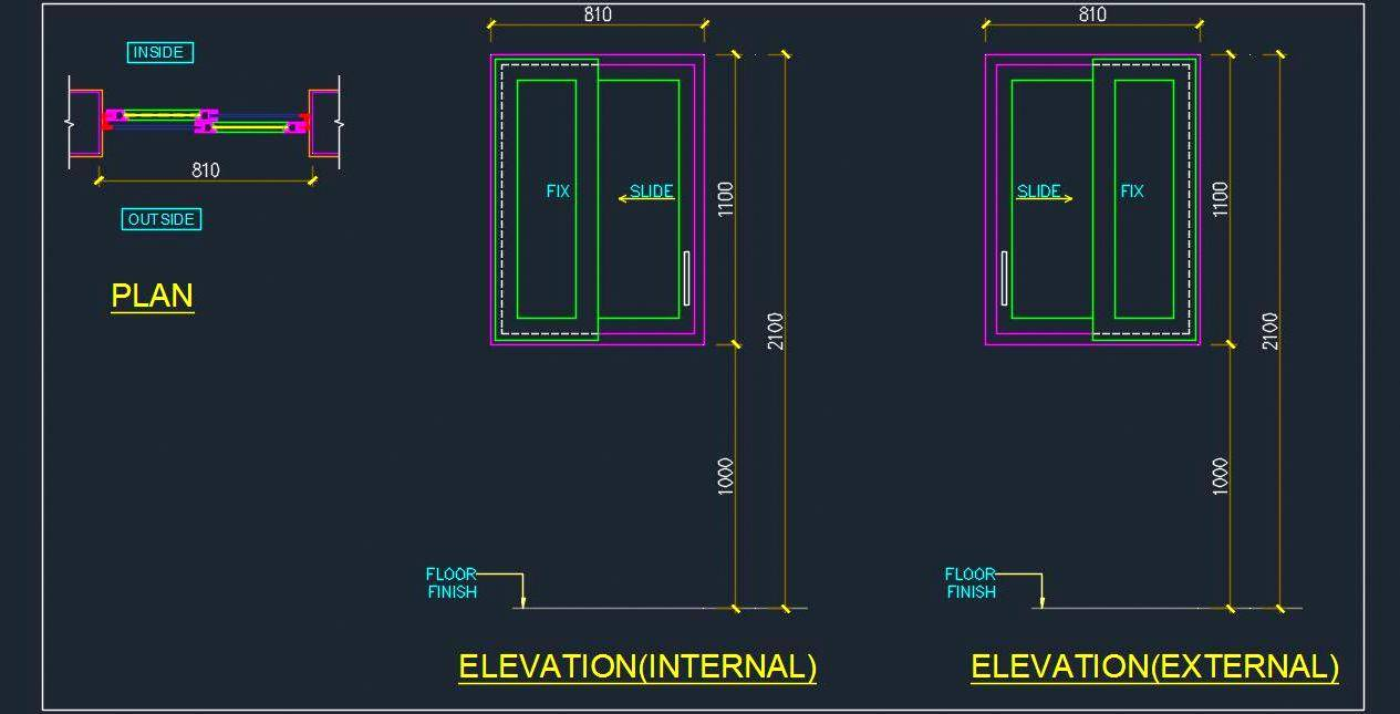 Sliding Door Elevation Drawing At Getdrawings Free For