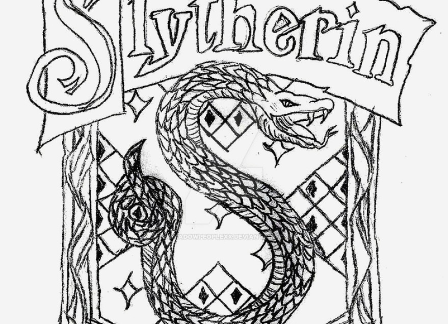 879x635 22 Photo Slytherin Crest Coloring Page Famous Table Chaises Design