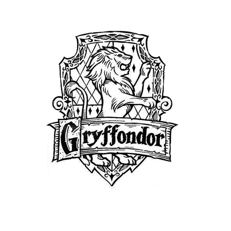 760x760 Gryffindor Coloring Pages Page Image Clipart Images