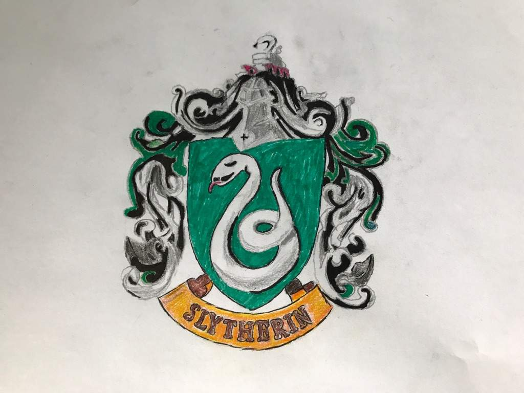 1024x768 Drawing Of Slytherin Crest Harry Potter Amino