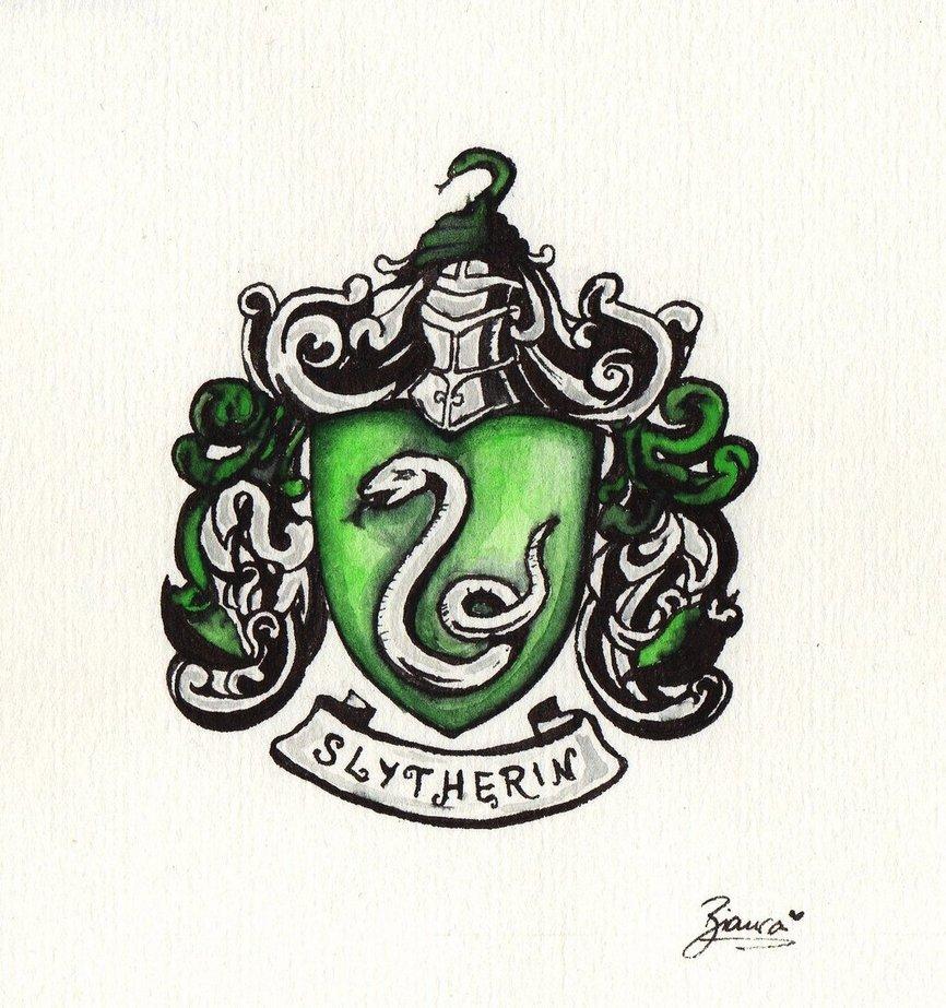 866x923 Slytherin Crest By Biancadelilah