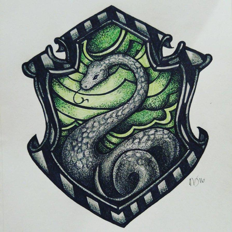 894x894 Slytherin Crest By Cinnabbomb