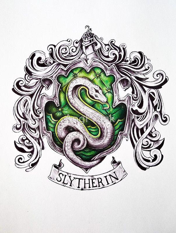 604x800 Slytherin House Crest By Angfrank On Redbubble Harry Potter