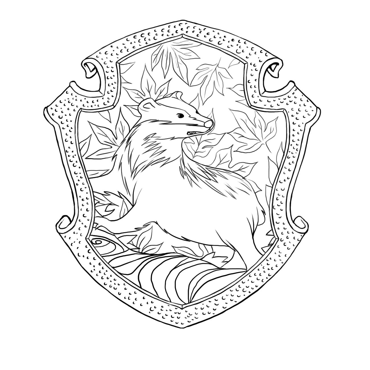 1300x1300 Harry Potter Coloring Pages For Kids Beautiful Superb Slytherin