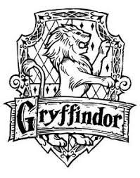 199x253 Ink Drawings Of Gryffindor, Slytherin, Ravenclaw, And Hufflepuff