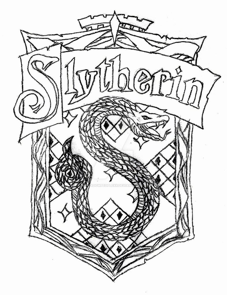 Slytherin Drawing At Getdrawings Com Free For Personal Use