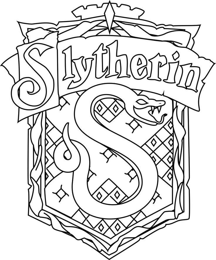 736x888 For Gt Harry Potter Slytherin Coloring Pages