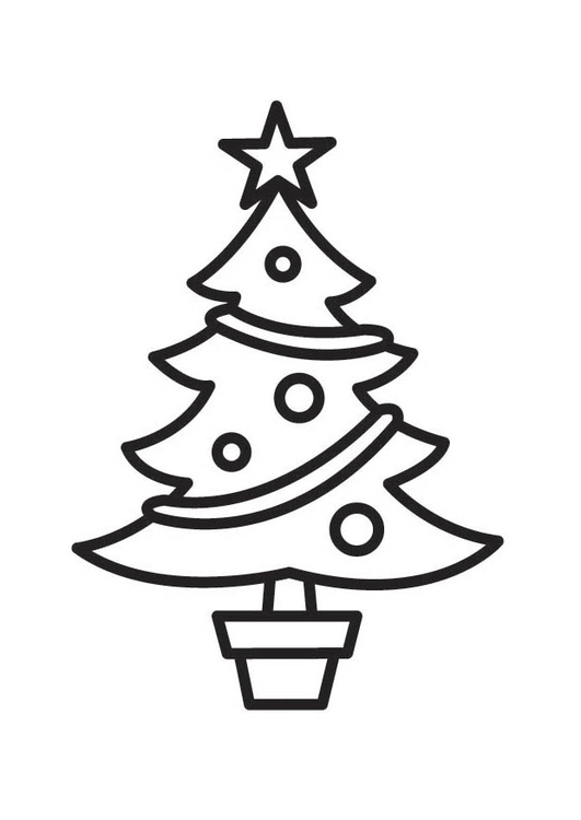 531x750 coloring page christmas tree