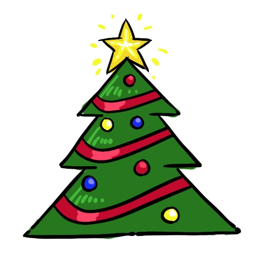520x541 28 Collection Of Small Christmas Tree Drawing High Quality