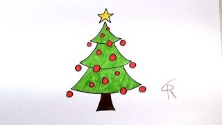 320x180 How To Draw A Christmas Tree Simple Drawing Tutorial For Beginners