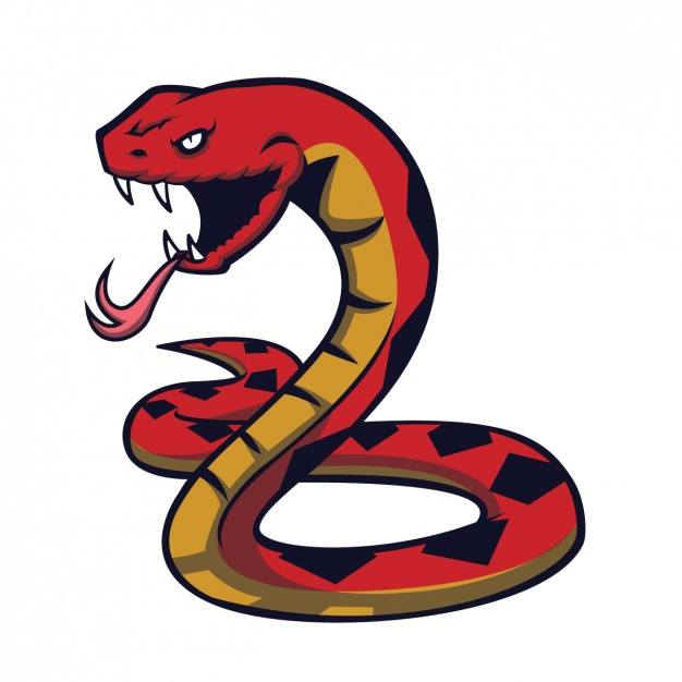 626x626 Hand Painted Snake Design Vector Free Download
