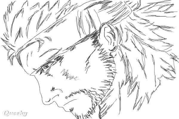 600x400 Solid Snake A Black White Speedpaint Drawing By Austin92