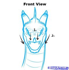 236x239 Dragon Head Drawing Front How To Draw Dragon Heads, Step By Step