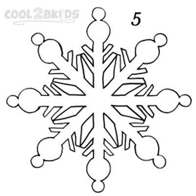 400x400 How To Draw A Snowflake (Step By Step Pictures) Cool2bkids
