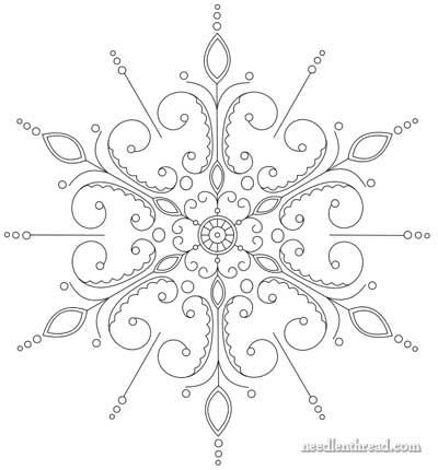 400x430 Snowflake Hand Embroidery Pattern Mandala Garabatos