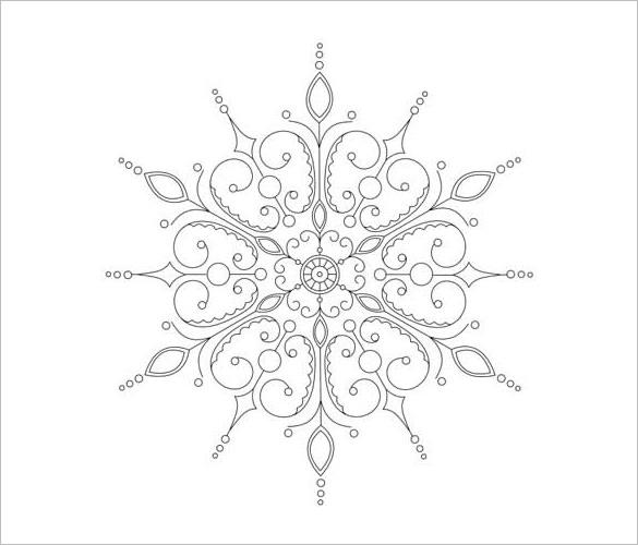 585x500 Snowflake Templates Free Word, Pdf, Jpeg, Png Format