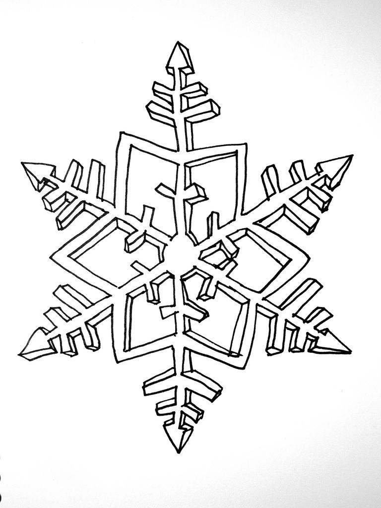 768x1024 Snowflake Drawing Kristy Overman