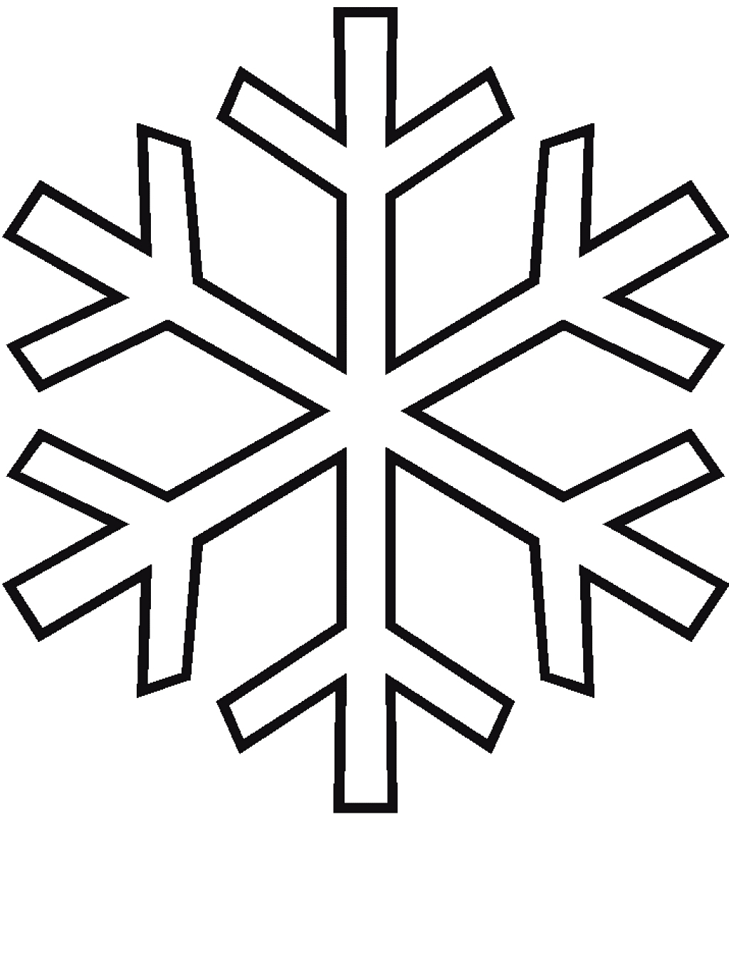 1024x1366 Drawing Of A Snowflake