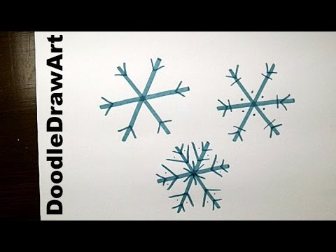 480x360 Drawing How To Draw An Easy Snowflake